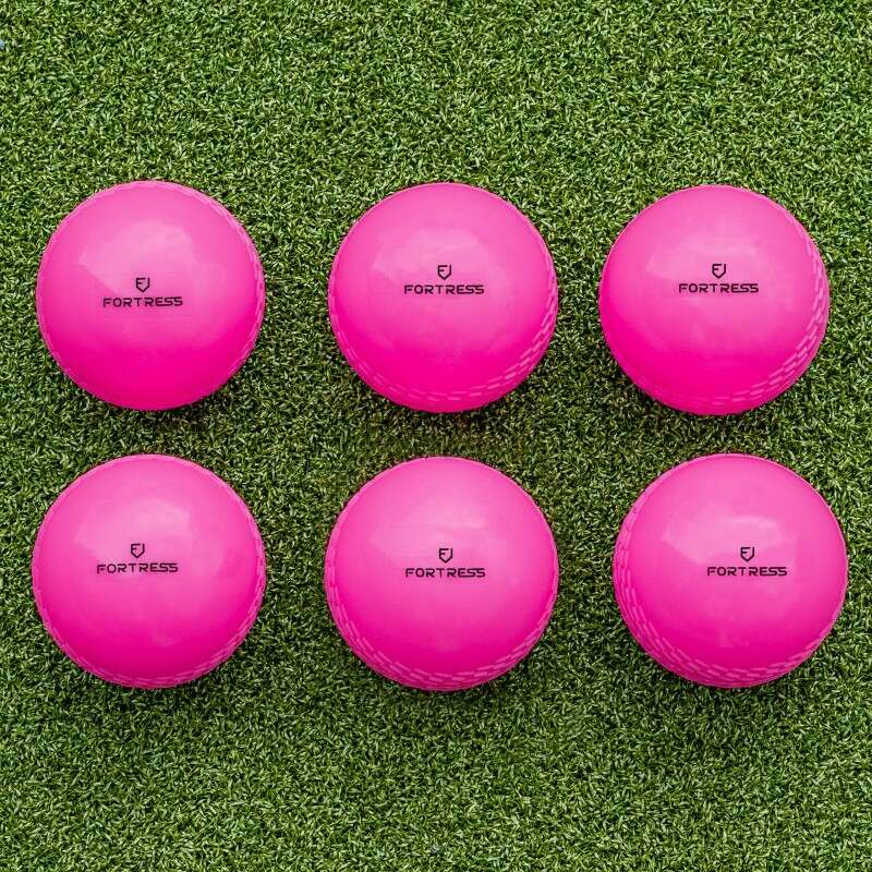 6 Pack Of High-Visibility Pink Cricket Balls | Net World Sports