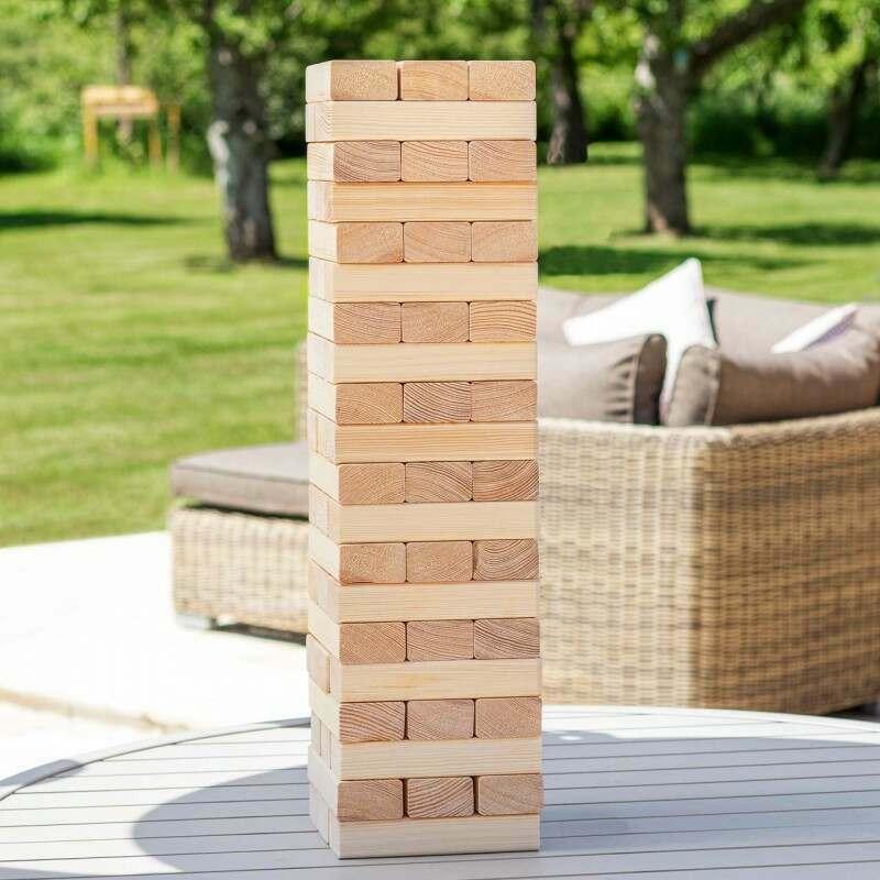 Premium Giant Jenga Set | Outdoor Garden Games | Net World Sports