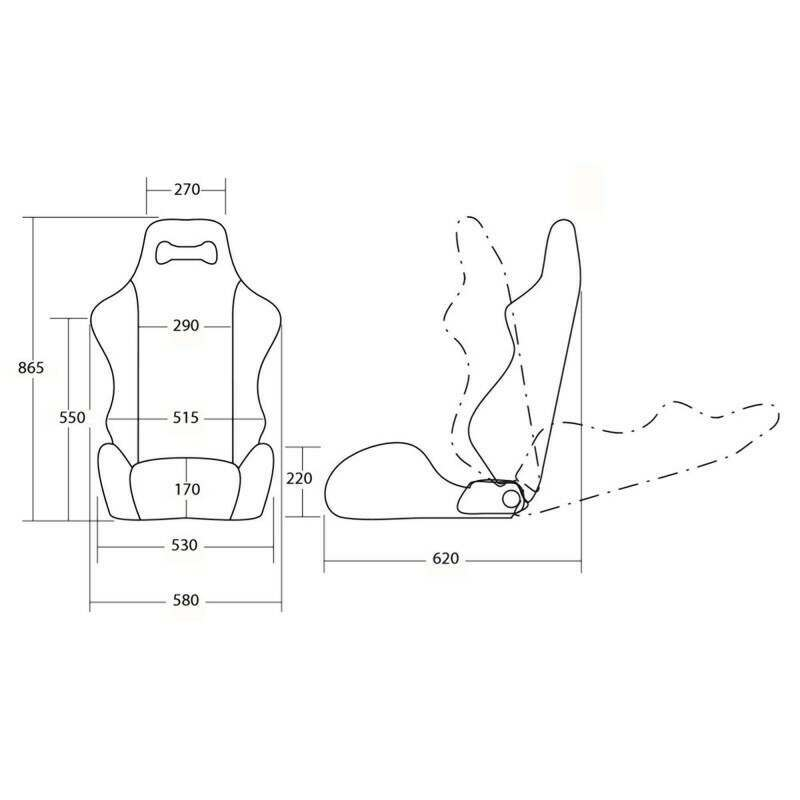 Daytona Dugout Chair Diagram