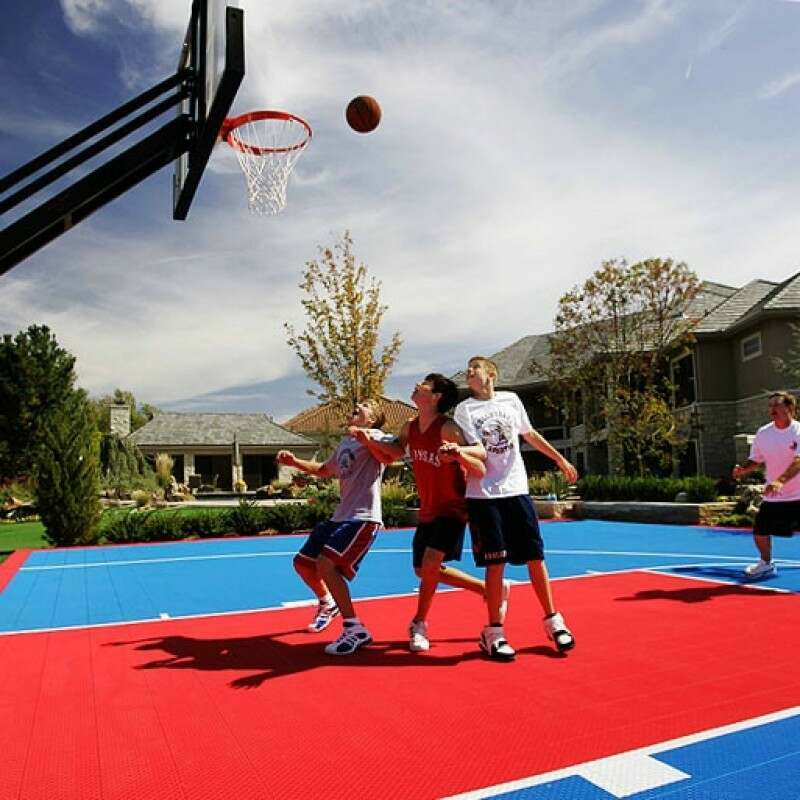 Weatherproof Basketball Floor Tiles
