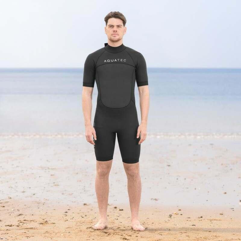 AquaTec Shorty Men's Wetsuits | Net World Sports