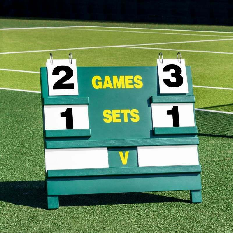 Professional Freestanding Wooden Tennis Scoreboard | Vermont Sports