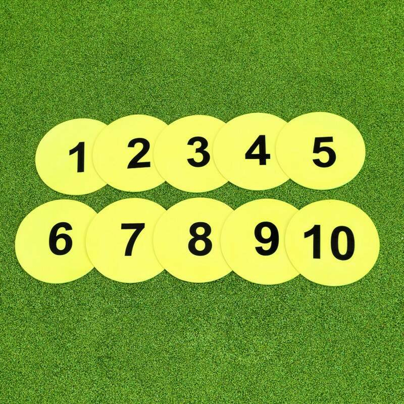 Harrier Numbered Flat Disc Markers [10 Pack] | Net World Sports