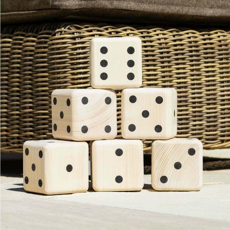 Giant Wooden Dice Set | Outdoor Garden Games | Net World Sports