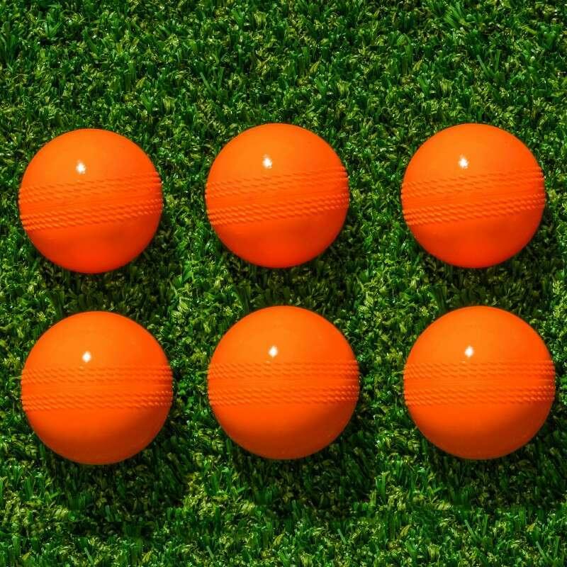 6 Pack Of High-Visibility Orange Cricket Balls | Net World Sports