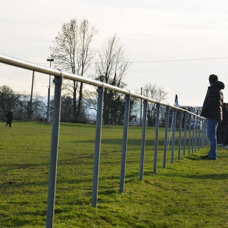 Galvanised Steel Football Pitch Spectator Barrier
