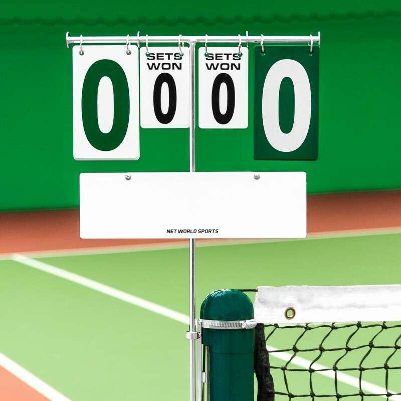 Post Mounted Tennis Scoreboard | Net World Sports