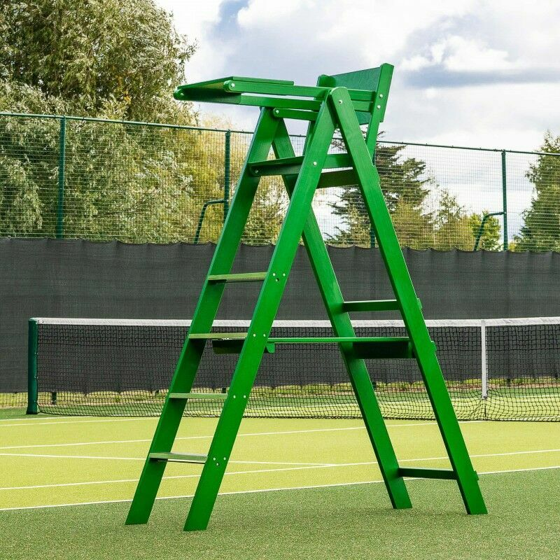 Professional Wooden Tennis Umpires Chair | Anti-Slip Steps | Pivot Tray Included | Vermont Sports
