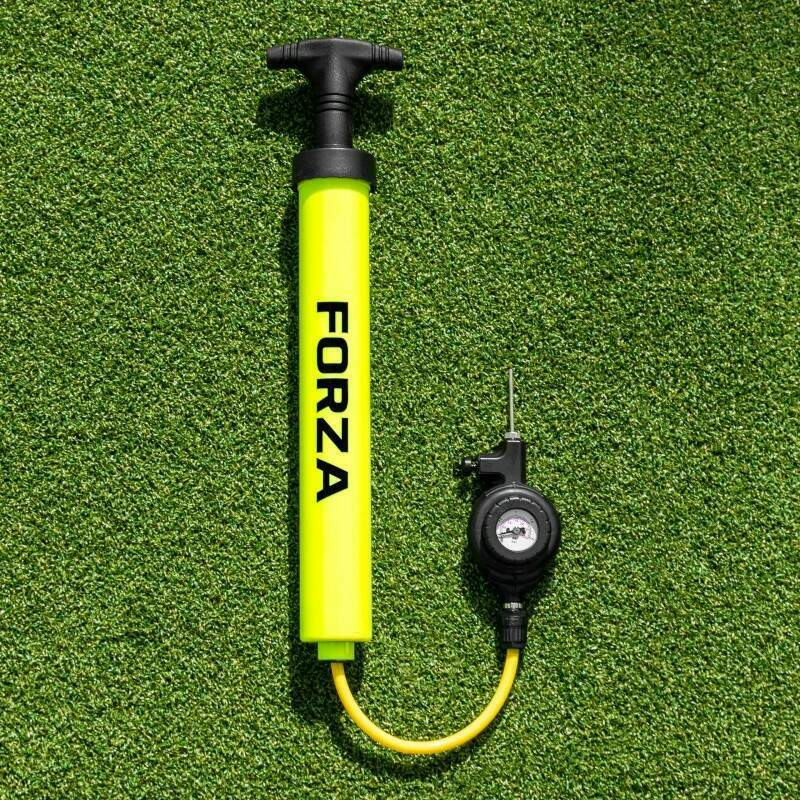 Football Pressure Gauge Attached To The FORZA Pump That Ball™