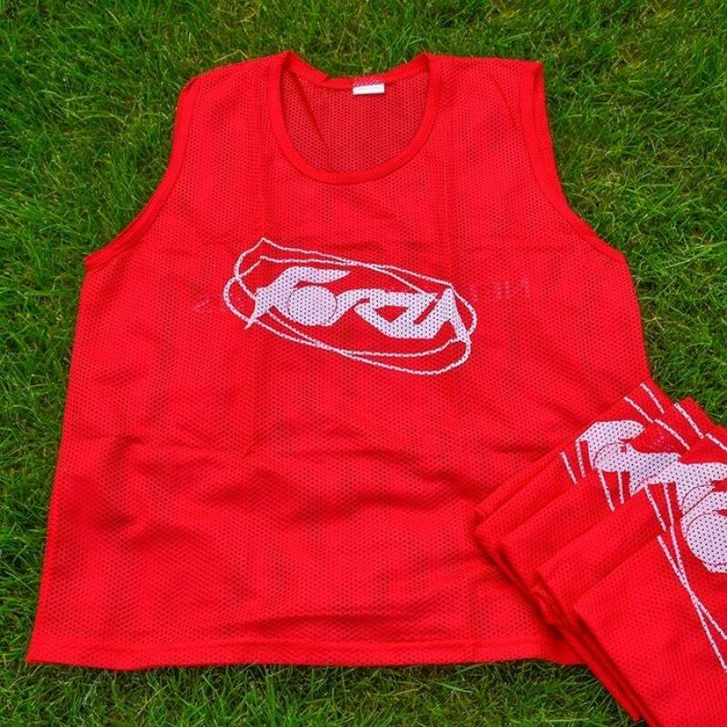Red Soccer Training Bibs