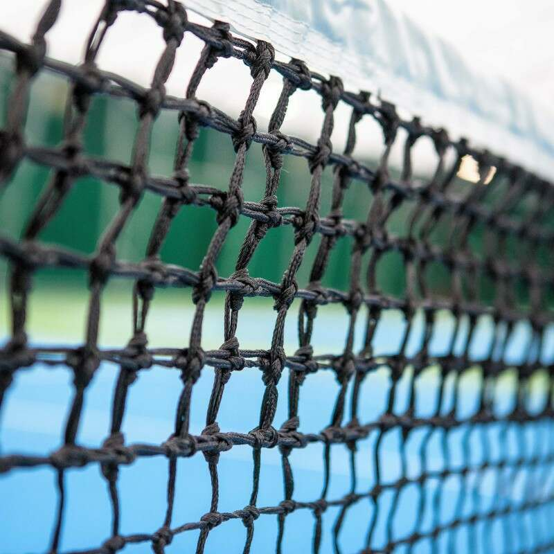 Resin Treated Double Top Braided HDPE Tennis Net | Net World Sports
