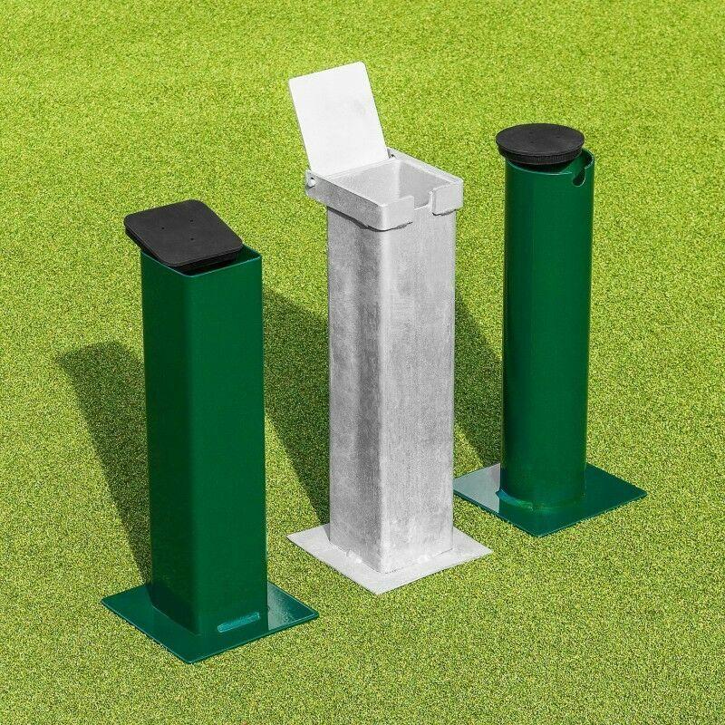 Flip Top Square Tennis Post Socket | Ground Sockets | Tennis Post Sockets | Ground Socket Caps / Lids | Net World Sports