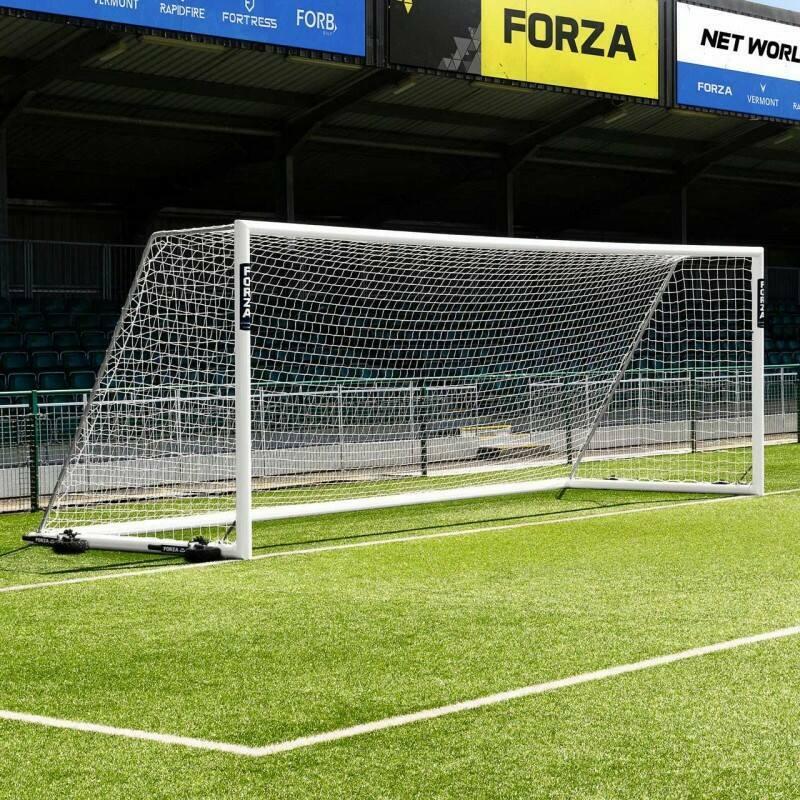 24 x 8 FORZA Alu110 Freestanding Football Goal With 360 Wheels