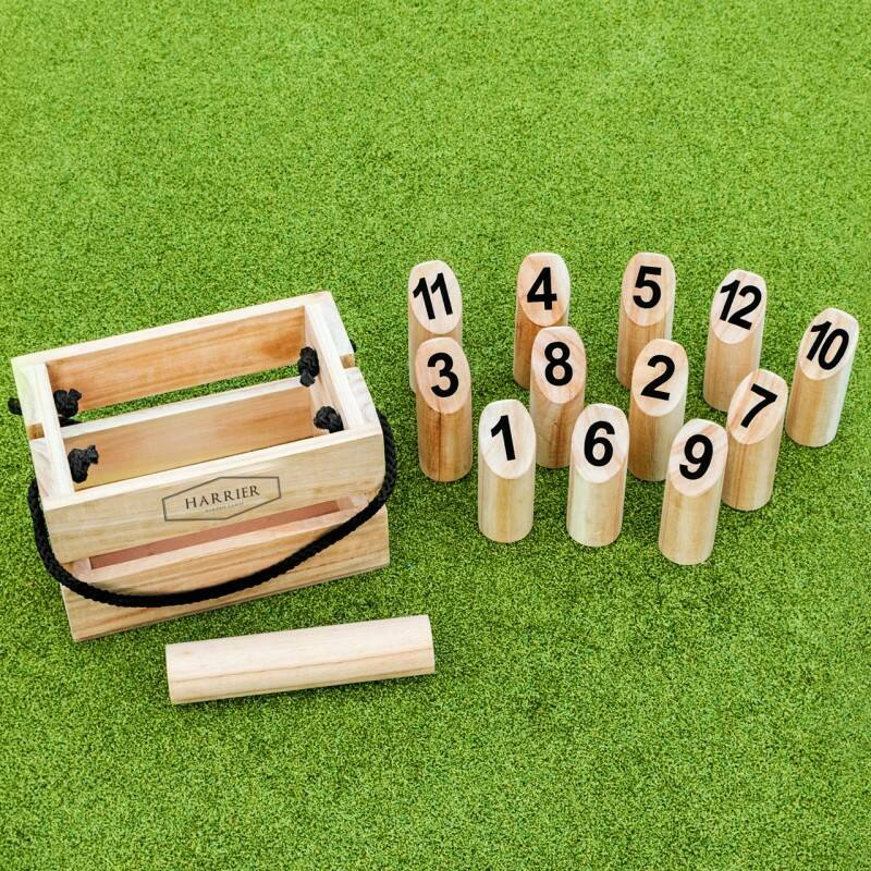 Number Kubb Set | Outdoor Wooden Skittles Game | Net World Sports