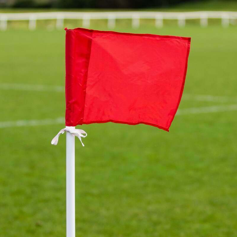 Red Soccer Corner Flags