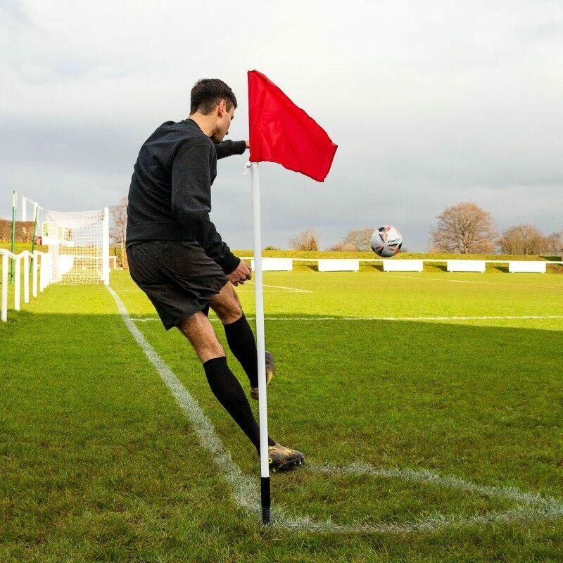Soccer 25mm Corner Flag (Spring Loaded) (Ground Equipment & Wiper Set)
