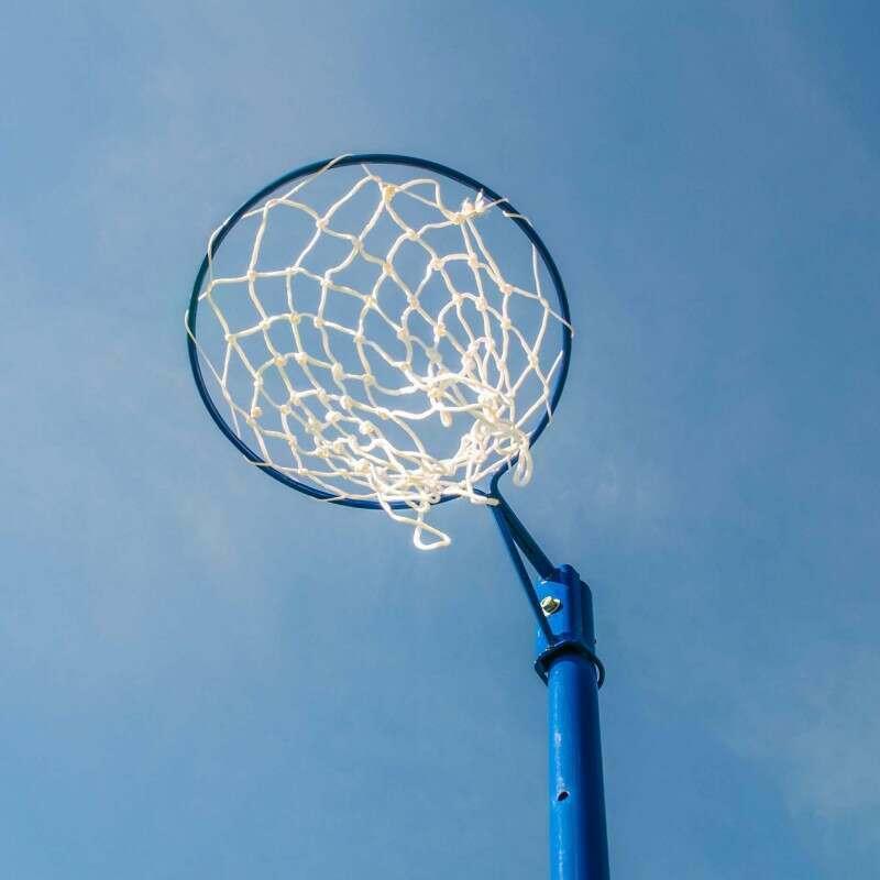 Fixed Netball Nets Adjustable Goal Height | Net World Sports
