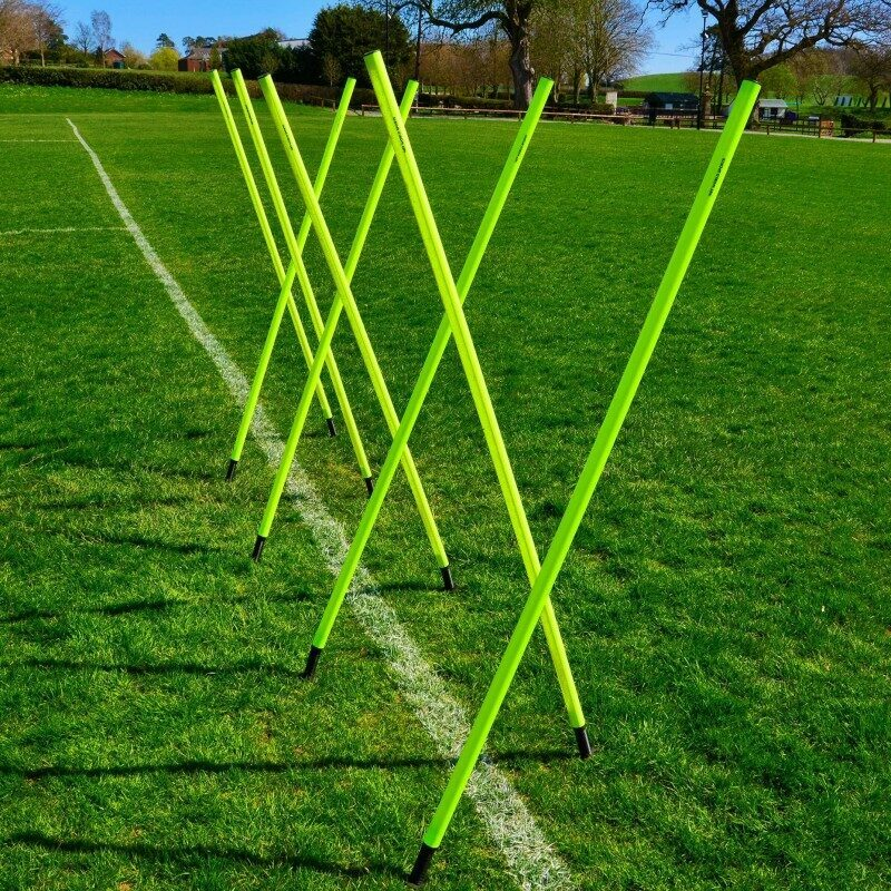 6ft High 34mm Spring Loaded Slalom Training Poles FORZA