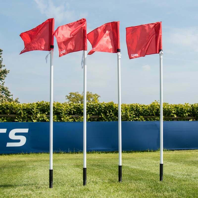 Football Corner Pole And Red Flag