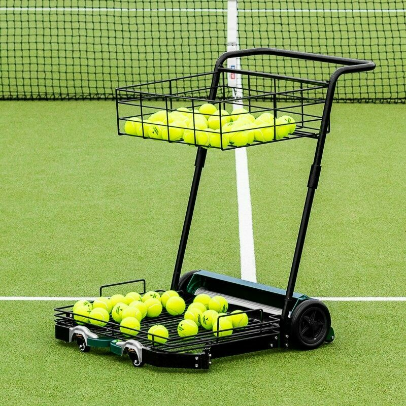 Tennis Ball Collector Mower With Top Basket | Net World Sports
