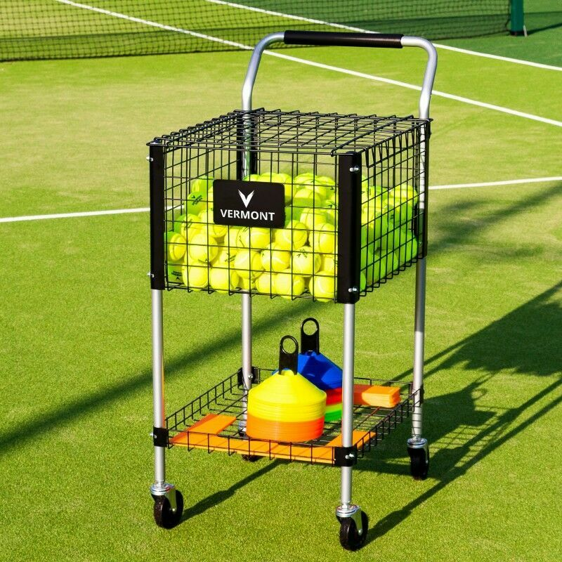 Tennis Ball Coaching Trolley With Additional Storage Tray | Net World Sports