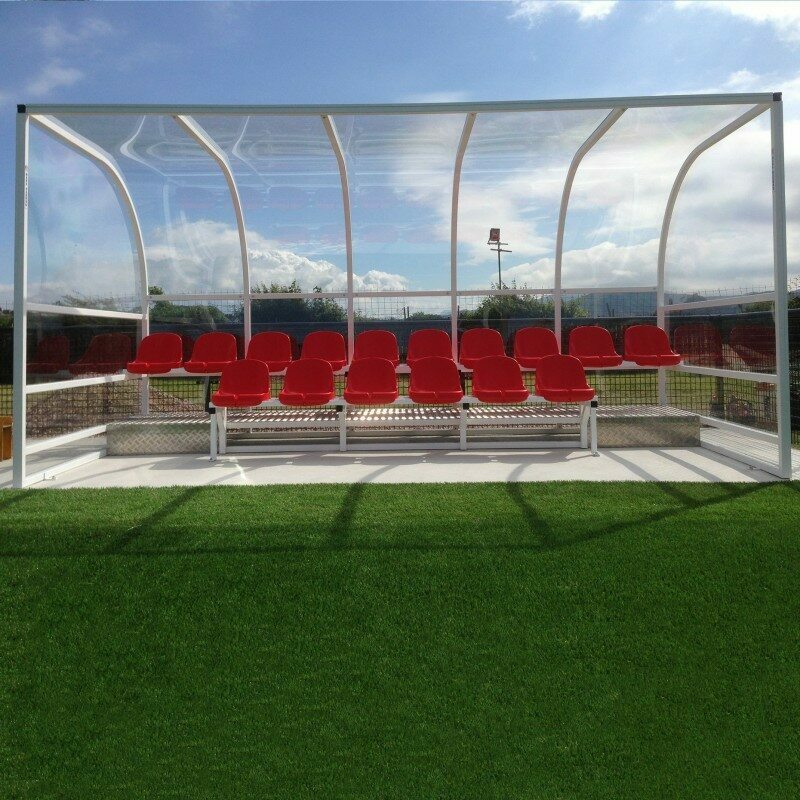 Two-Tier Football Team Shelter [16 Seat]