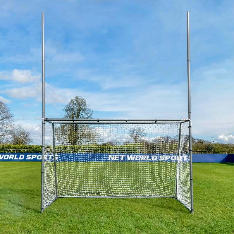 8 x 5 Rugby & Soccer Goal Posts With Upright Extensions | Net World Sports