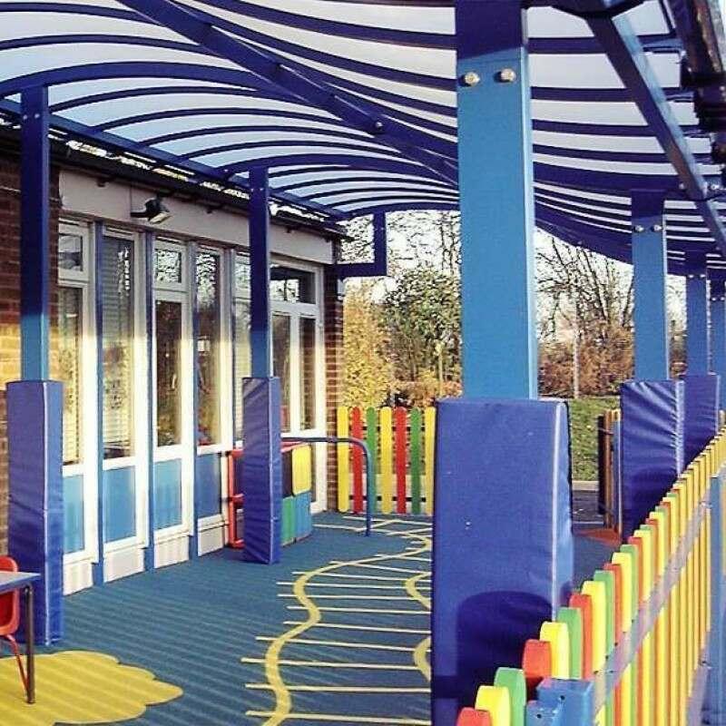 Weatherproof Column Protectors For Schools And Warehouses