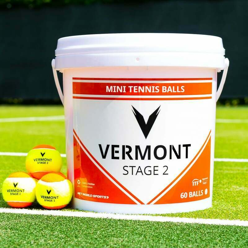 Vermont Mini Orange Tennis Balls | Stage 2 | Ideal For Tennis Development | Vermont Sports