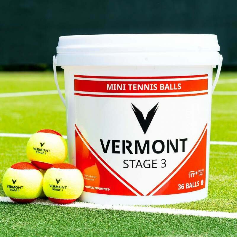 Vermont Mini Red Tennis Balls | Stage 3 | Approved by the ITF | Vermont UK
