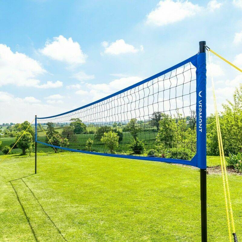 Folding Adjustable Volleyball Post Net Garden Set