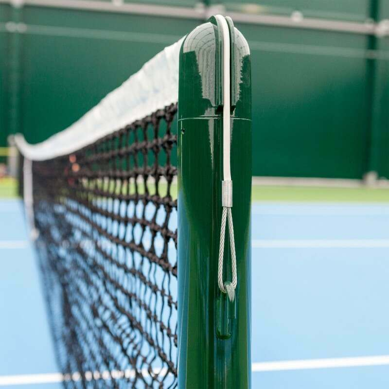 Vermont Tennis Posts - Round | Socketed Tennis Posts | Wimbledon Green Tennis Posts | Vermont UK