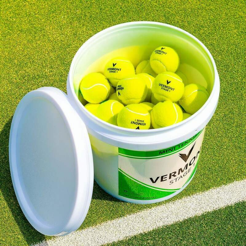 Vermont Stage 1 Tennis Balls Bucket ITF Approved | Net World Sports