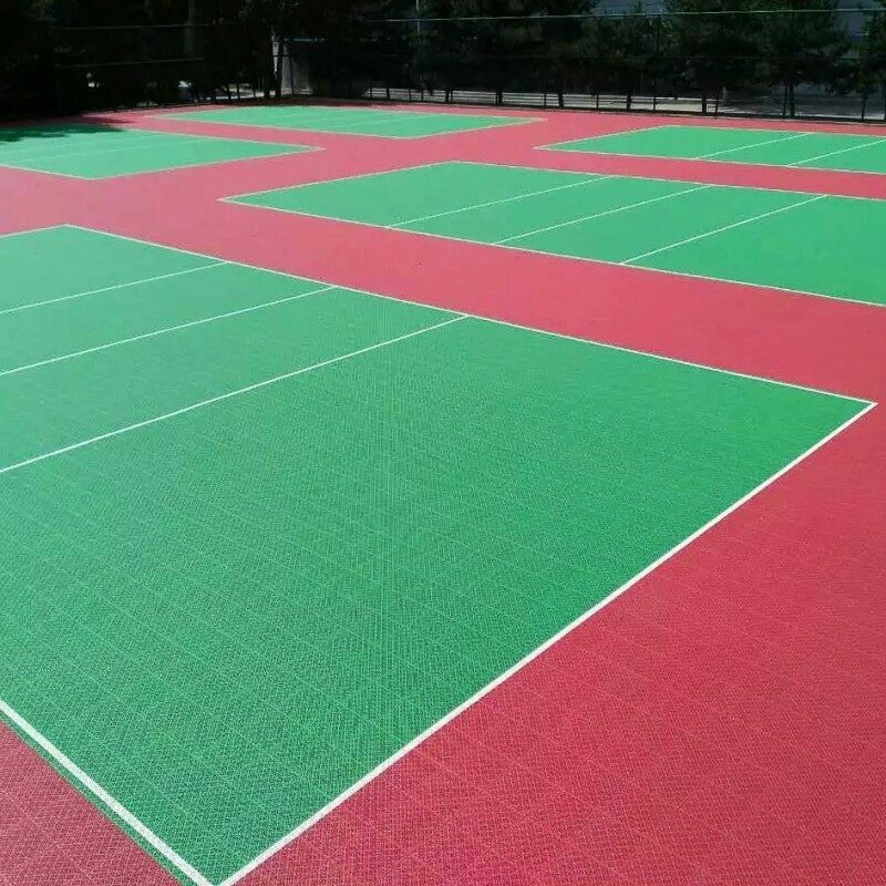 Vented Volleyball Court Modular Floor Tiles System