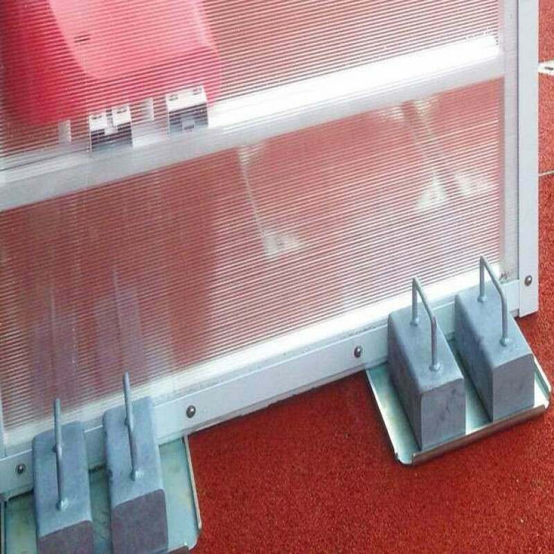 Team Shelter Weight Plates - Secure Your Football Dugout To The Ground