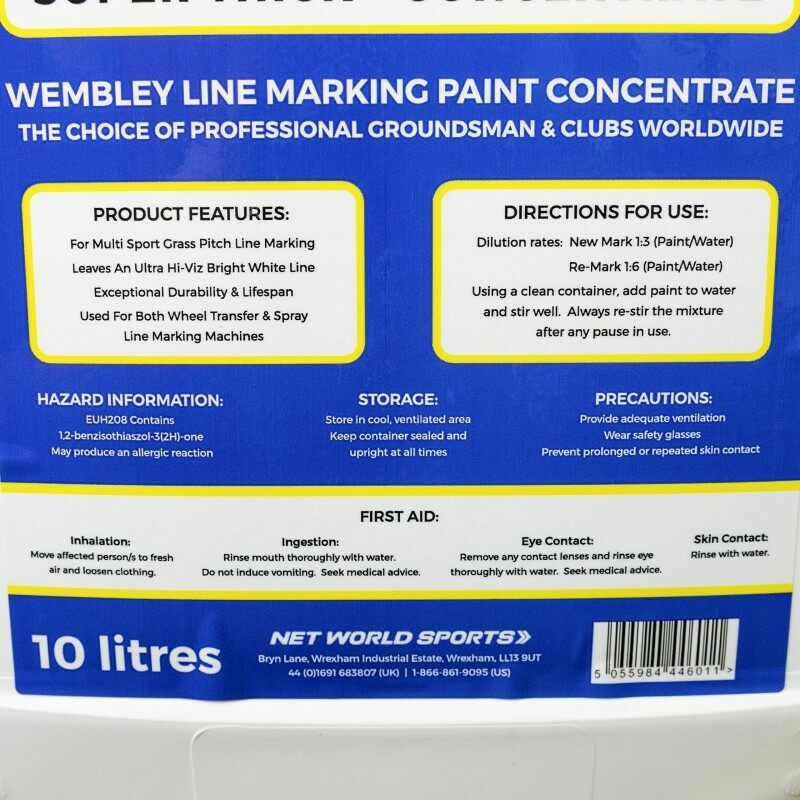10L Concentrated Stadium Grade Paint For Soccer Pitches