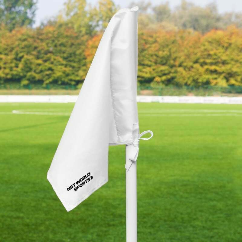 White Corner Flags