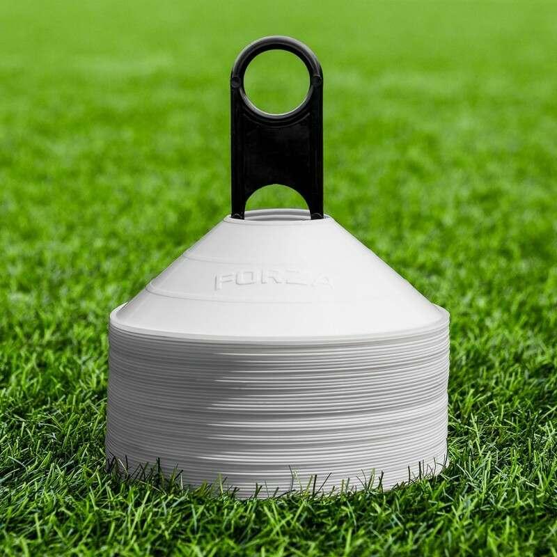 White FORZA Basketball Training Marker Cones