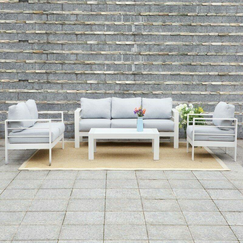 Harrier Garden Furniture Set Net, White Garden Furniture