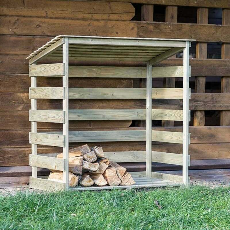 Harrier Wooden Log Store | Net World Sports