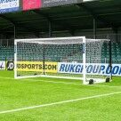 Video for 18.5 x 6.5 FORZA Alu110 Freestanding Stadium Box Soccer Goal