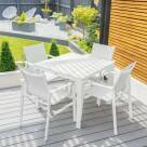 Video for Harrier Luxury Outdoor Dining Table Set [White & Grey]