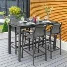 Video for Harrier Luxury Outdoor Bar Stools & Table Set [4 Seats]