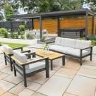 Video for Harrier Luxury Garden Sofa & Table Set [5 Seater] – Charcoal/Teak