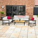 Video for Harrier Luxury Garden Sofa & Table Set [6 Seater] – Charcoal/Teak