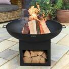 Video for Harrier Fire Pit Bowl With Log Storage [30in]