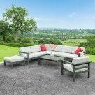 Video for Harrier Luxury Garden Corner Sofa & Table Set [5/6 Seater]