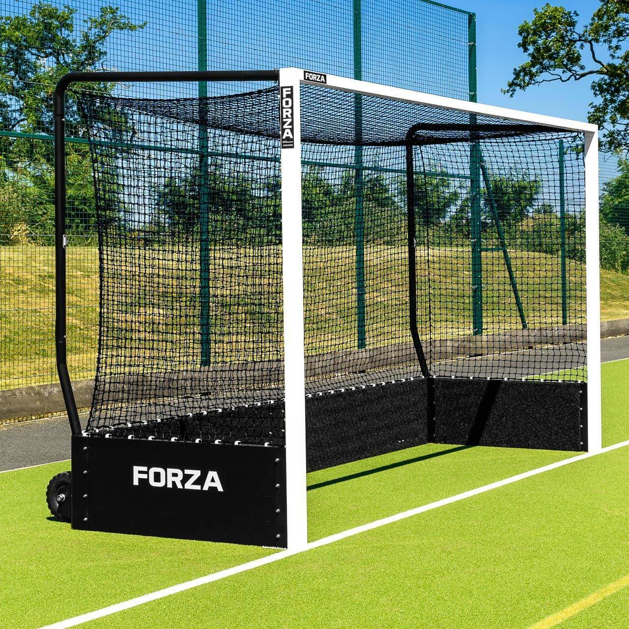 FIH FORZA Championship Hockey Goal - Single Black Net With Weights