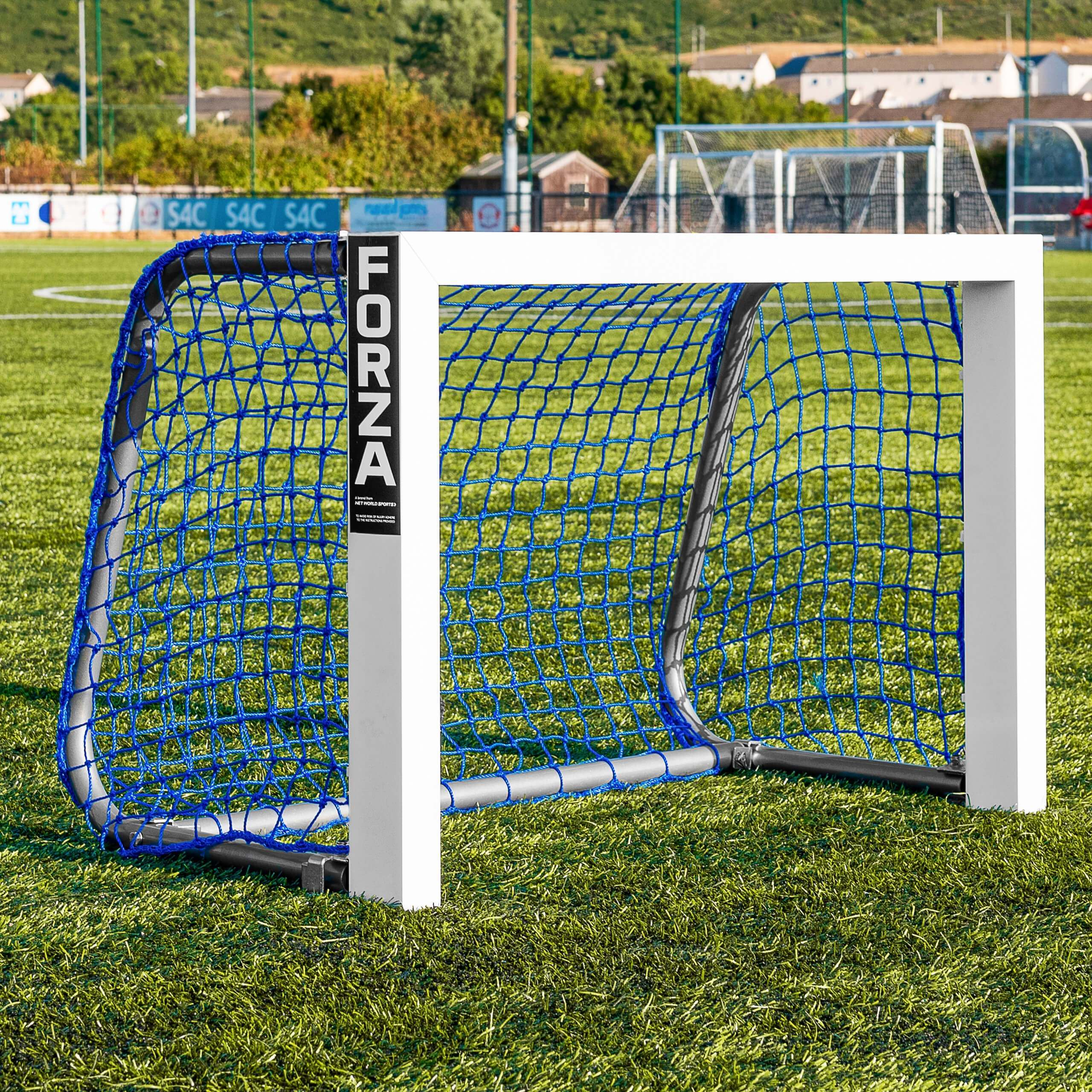 FORZA Alu Mini Target Football Goal - Blue Net
