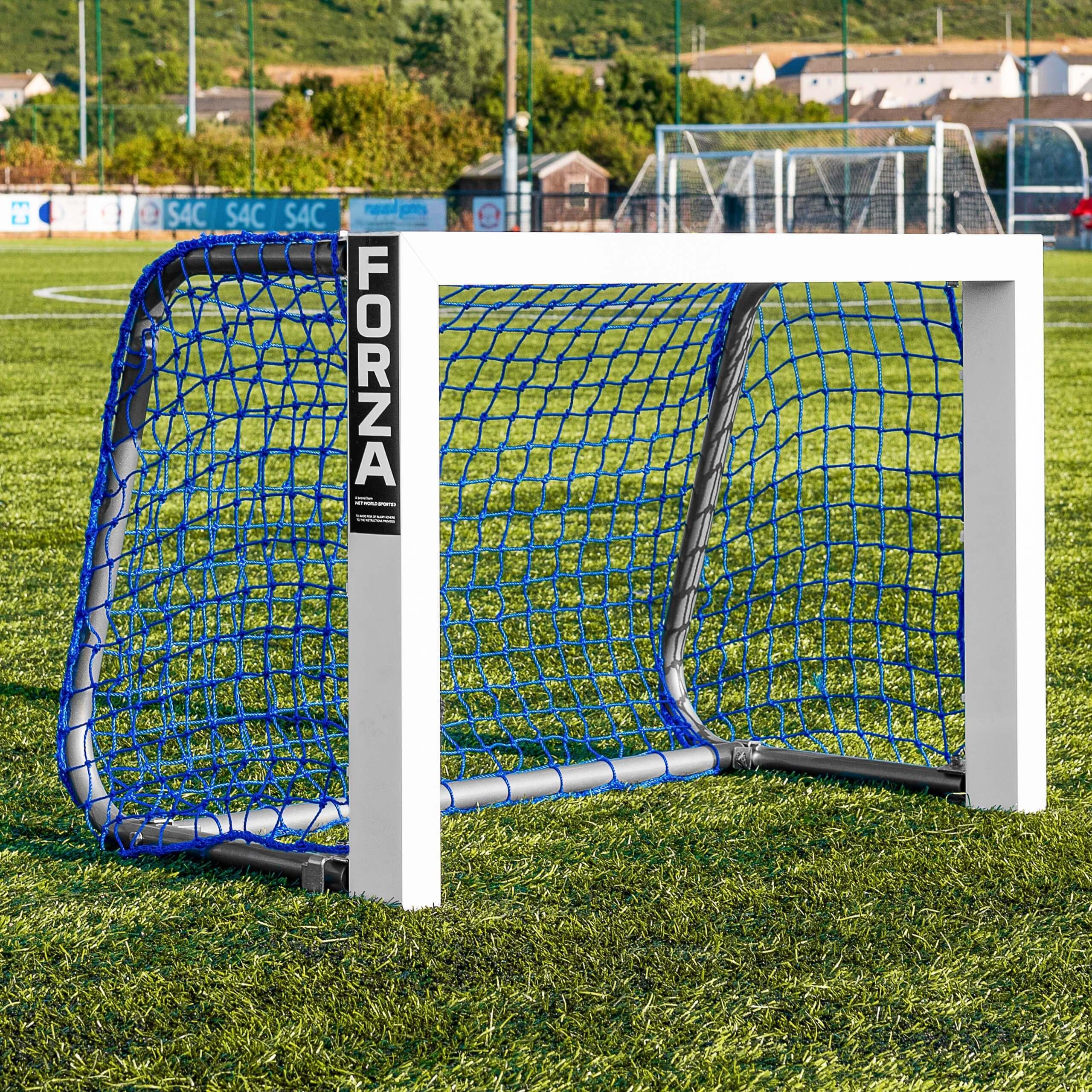 FORZA Alu Mini Target Soccer Goal - Blue Net